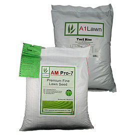 AM Pro-7 Premium Fine Lawn Grass Seed with Weed, Feed & Moss Killer