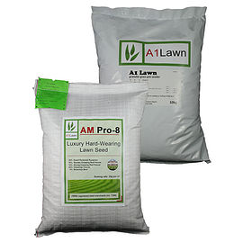 AM Pro-8 Luxury Hard Wearing Lawn Grass Seed & Pre-seeder Fertiliser